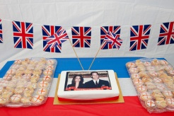 GB. England. Walsall. The Black Country. The Royal wedding between Kate Middleton and Prince William. A street party on Clare. Street. 2011.